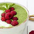 Groene Matcha Chia Dessert