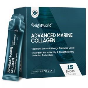 Advanced Marine Collagen Dryck 15 x 25ml SHOTS WeightWorld