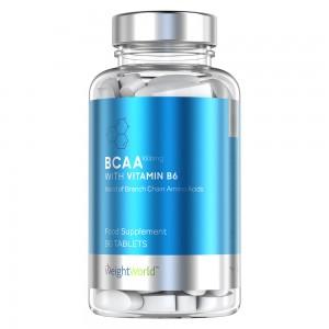 BCAA & B6 Tabletter - Muskelbyggande Tillskott Med Aminosyror - 90 Tabletter - Förpackning