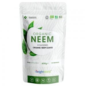 Bio Neem Pulver - Ekologiskt växtbaserat pulvertillskott för immunförsvaret & detox - 200 g