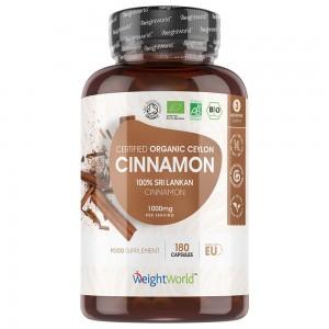 Kanelkapslar - Naturligt kryddtillskott för välmåendet - WeightWorld - 1000 mg - 180 kapslar