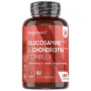 Glukosamin och kondroitin | Kosttillskott för leder |  - 180 kapslar