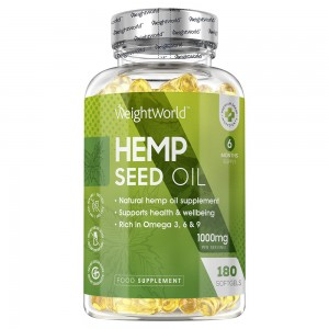 Produktbild for Hemp Seed Oil från market WeightWorld innehallande 90 softgel kapslar