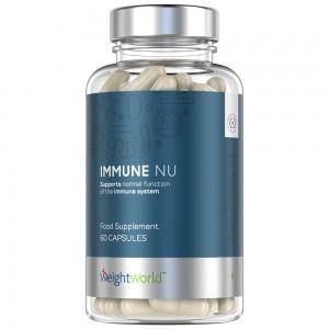 Immune NU 60 Kapslar - Stärka immunförsvaret - Kosttillskott för starkare immunförsvar - 23 näringsämnen & antioxidanter
