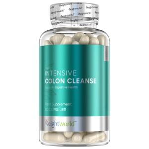 Produktbild för Intensive colon cleanse dar man ser att den innehaller 90 kapslar och är från WeightWorld