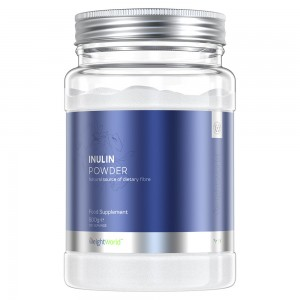 Produktbild för Inulin Powder. En lila burk med 800g pulver från market WeightWorld