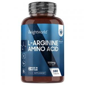 L-Arginine Tabletter - Fitnesstillskott för volym, definition och muskelprestation - 180 tabletter
