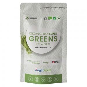 Ekologiskt Super Greens Pulver - Naturlig superfoodblandning för vikthantering & vitalitet - 200g