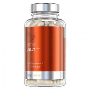 Royal Jelly - Naturligt tillskott från bin som ger ett starkare immunförsvar- WeightWorld - 60 kapslar
