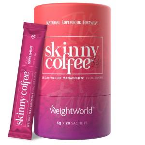 Produktbild for Skinny Coffee dar man ser forpackningen och att den innehaller Green Coffee