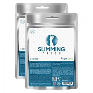 Mat Slimming Patch – Naturliga Transdermala Hudplåster med Fucus Vesiculosus – 60 Plåster - 2 Pack