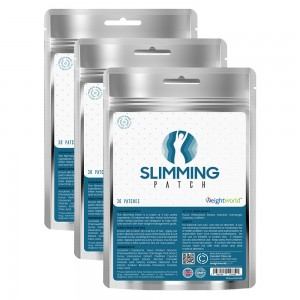 Mat Slimming Patch – Naturliga Transdermala Hudplåster med Fucus Vesiculosus – 90 Plåster - 3 Pack