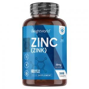 Zink tabletter | Kosttillskott för normalt fungerande immunförsvar och normal kognitiv förmåga