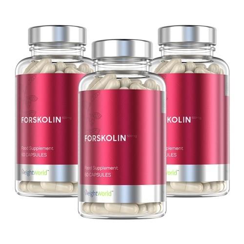 Forskolin 500 mg - Naturliga viktminskning tabletter - Högkvalitativ Forskolin - Kan hjälpa till att behålla muskelmassan - Veganvänliga - 3 pack