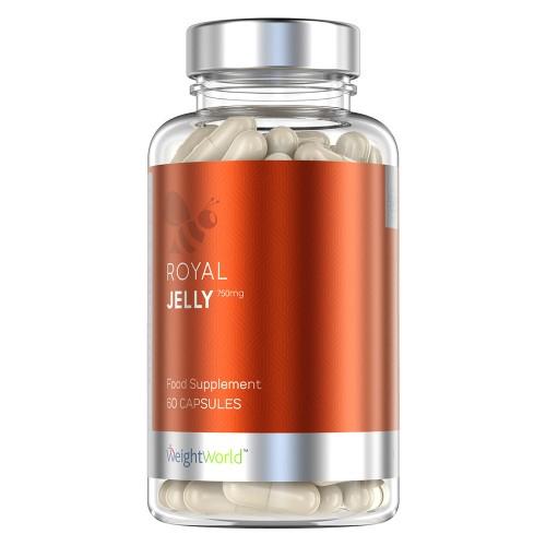 Royal Jelly - Naturlig bidrottninggelé för ett starkare immunförsvar - Hållbart framtaget kosttillskott - 750 mg Royal Jelly - 60 kapslar per burk