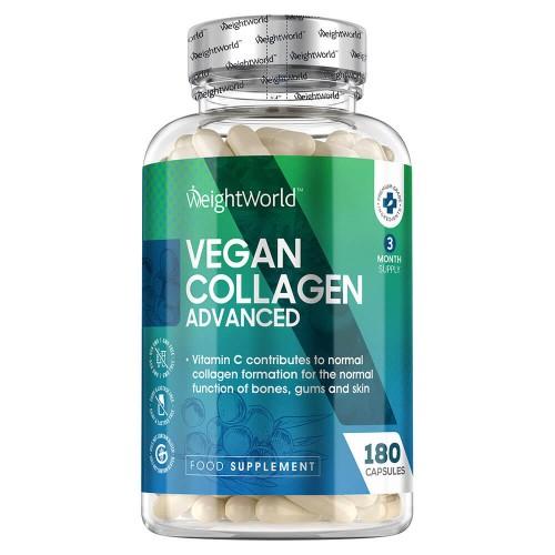 Vegan Collagen Advanced - Kollagenfrämjande Blandning - 180 Kapslar - 500mg Styrka Per Kapsel - Veganskt Kollagen Tillskott För Hud, Ben & Leder