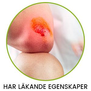 En bild på en armbåge med ett öppet sår mot en vit bakgrund